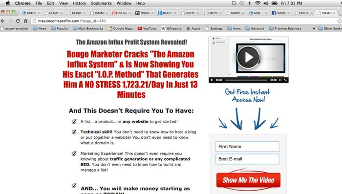 Hard Sell Squeeze Page